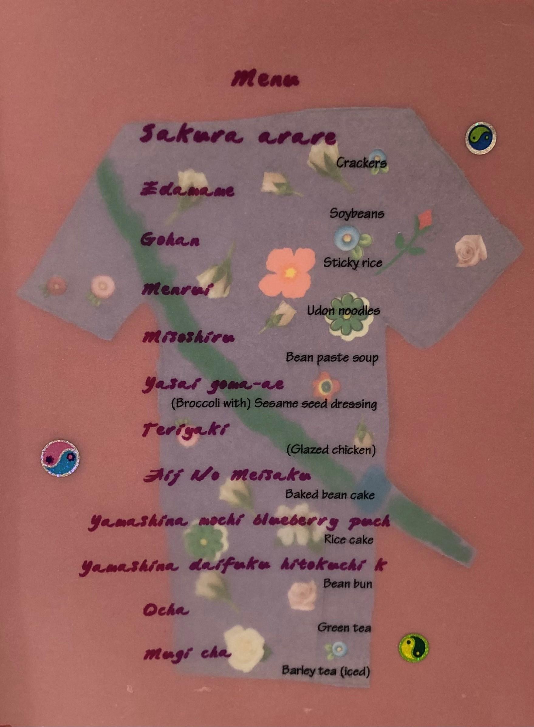 jap menu
